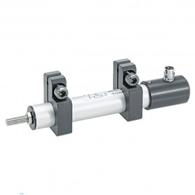 TX2 - con abrazaderas / Transductor de posición lineal con abrazaderas de montaje (Hasta 300 mm de carrera) IP67