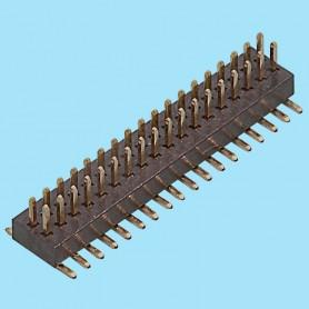 1042 / Regleta doble fila SMD - Paso 1,00 mm