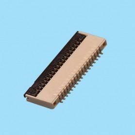 """0300 / Conector acodado cable flexible - Paso 0,30 mm (0.012"""")"""