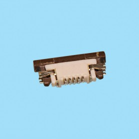 "0513 / Conector acodado cinta flexible SMD - Paso 0.50mm (0.020"")"