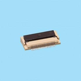 "0537 / Conector acodado para cinta flexible SMD - Paso 0.50 mm (0.020"")"