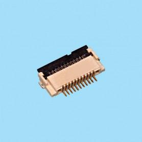 "0530 / Conector acodado para cinta flexible SMD - Paso 0.50 mm (0.020"")"