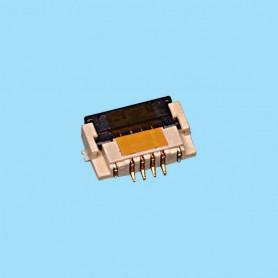 "0812 / Conector acodado para cinta flexible SMD - Paso 0.80 mm (0.032"")"