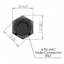 ETP-AM-SP-IMC-10K3435A1 / Sondas de temperatura NTC (± 1% / -40 ° C a 230 ° C)