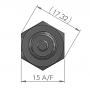 ETP-AM-SP-100-10K3435A1 / Sonda de temperatura ETP-AM-SP-100-10K3435A1 NTC, IP67 (-40 ° C a + 230 ° C)