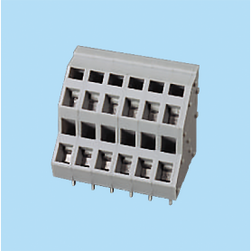 BCWKK500 / Screwless PCB terminal block Spring Clamp - 5.00 mm