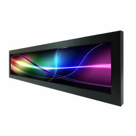 "D280-S00-04/00 | Display 28"" led Resizing 1920x357 – 19/3 con chasis. EN50155"