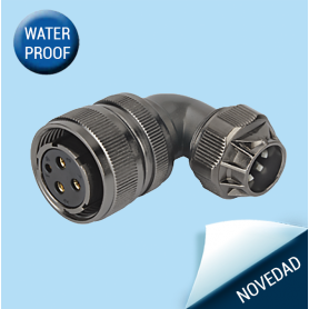 WD28-TU-IP65 | Female cable connector – Threaded coupling (Solder termination)