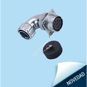 WS-ZR   In-line receptacle with angled back shell for metal-hose