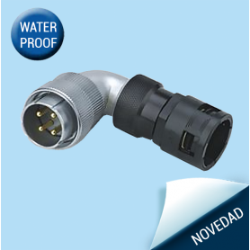 WF-TW | Plug with angled back shell for plastic-hose IP65
