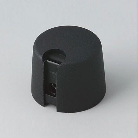 A1020639 / TOP-KNOBS 20 - PA 6 - nero - 20x16mm  1/4″