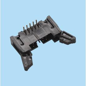 5342 / Conector macho acodado con expulsores - Paso 2,54 mm