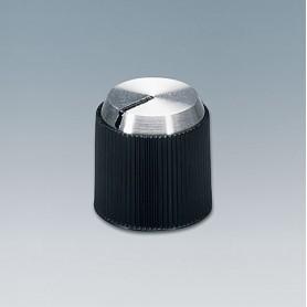 A1314240 / TUNING KNOB - PF (UL 94 V-0) - black/alu - 14