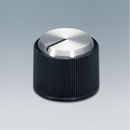 A1318260 / TUNING KNOB - ABS (UL 94 HB) - black/alu - 18
