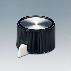 A1318560 / TUNING KNOB - PF (UL 94 V-0) - black/alu - 23