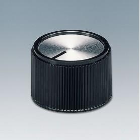 A1320260 / TUNING KNOB - PF (UL 94 V-0) - black/alu - 20x16mm 6mm