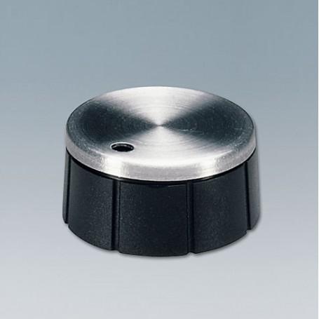 A1321260 / TUNING KNOB - PF (UL 94 V-0) - black/alu - 21x10mm 6mm