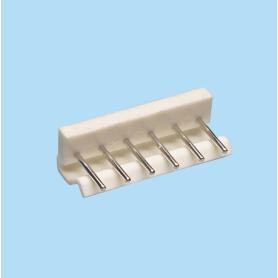5004 / Regleta recta polarizada con anclaje - Paso 5,00 mm