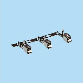 3953-3954 / Terminal engaste cajeado - Paso 5,00 mm