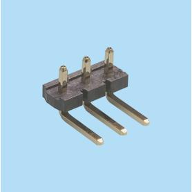 5072 / Regleta acodada moldeada PIN cuadrado - Paso 5,08 mm