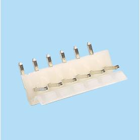 5083 / Regleta acodada polarizada con anclaje - Paso 5,08 mm