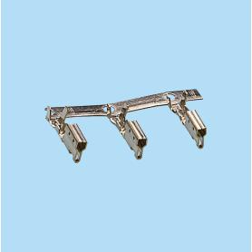 3933-3934 / Terminal engaste cajeado - Paso 5,08 mm
