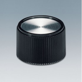 A1328160 / TUNING KNOB - PF (UL 94 V-0) - black/alu - 28x16mm 6mm