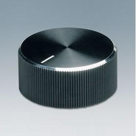 A1418260 / TUNING KNOB - ABS (UL 94 HB) - black/alu - 18