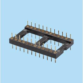 8424 / Zócalo macho simple fila PIN torneado