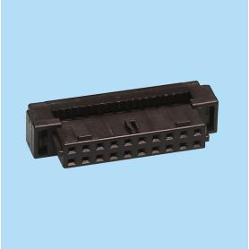 2070 / Conector hembra recto para cable plano - Paso 2,00 x 2,00 mm