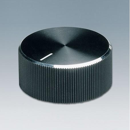 A1422260 / TUNING KNOB - ABS (UL 94 HB) - black/alu - 22