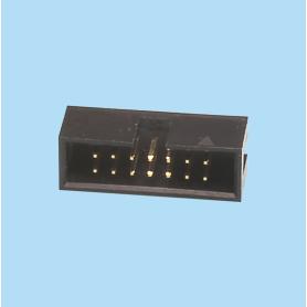 5446 / Conector macho recto polarizado - Paso 2,54 x 2,54 mm