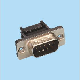 8020 / Conector macho recto SUB-D cable plano - Paso 2,54 x 2,54 mm