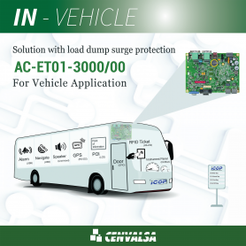 AC-ET01-3000/00 / Solution for VEHICLE APPLICATION  with load dump surge protection (Vortex86DX3 1GHz processor)