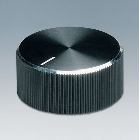 A1432260 / TUNING KNOB - ABS (UL 94 HB) - black/alu - 33x14