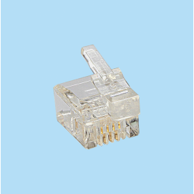 6867 / Plug telefónico FCC-68 - Asimétrico