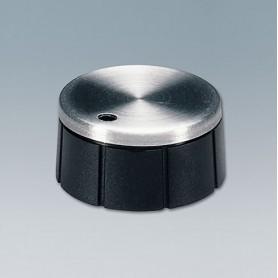 A1624260 / TUNING KNOB - ABS (UL 94 HB) - black/alu - 24x12