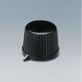 A1313560 / TUNING KNOB - PF (UL 94 V-0) - black RAL 9005 - 20x15