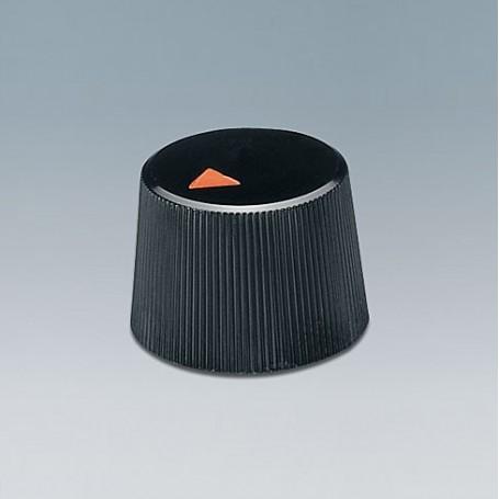 A1316240 / TUNING KNOB - ABS (UL 94 HB) - black RAL 9005 - 16