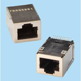 7689 / Jack RJ45 con Filtro - 10/100 BASE-T puerto simple SMD