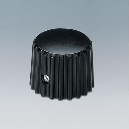 A1321160 / TUNING KNOB - ABS (UL 94 HB) - black RAL 9005 - 20x16mm 6mm