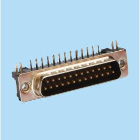 8004 / Conector macho SUB-D acodado