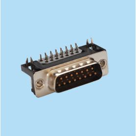 8006 / Conector macho SUB-D acodado 8.10 mm