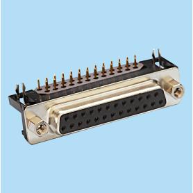 8007 / Conector hembra SUB-D acodado 8.10 mm