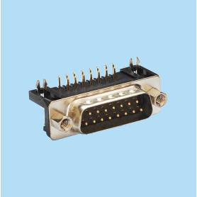 8012 / Conector macho SUB-D acodado 8.10 mm