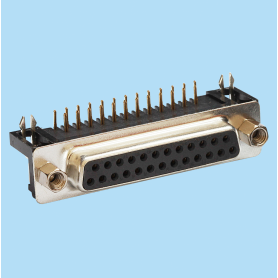 8013 / Conector hembra SUB-D acodado 8.10 mm