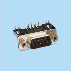 8014 / Conector macho SUB-D acodado 10.3 mm