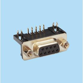 8015 / Conector hembra SUB-D acodado 10.3 mm