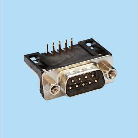 8016 / Conector macho SUB-D acodado 14.8 mm