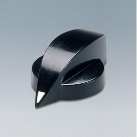 A1321860 / TUNING KNOB - PF (UL 94 V-0) - black RAL 9005 - 23x16mm 6mm